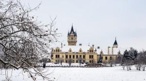 Schloss Grafenegg Winter Rückansicht 12