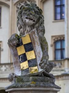 Schloss Grafenegg Eingang Löwe