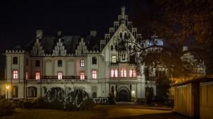 Schloss Grafenegg 7 abends Winter