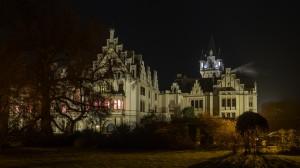 Schloss Grafenegg 6 abends Winter