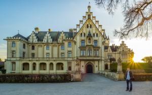Schloss Grafenegg 15 Sonnenuntergang