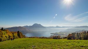 Traunsee Blick vom Gmundnerberg 1