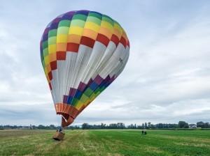 Heißluftballon OE-ZCM bunt 10 Landung